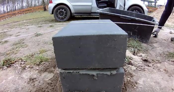 punktowe słupy betonowe